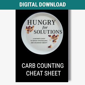 Carb Counting Worksheet cover graphic