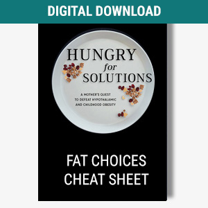 Fat Choices Cheat Sheet Product Image